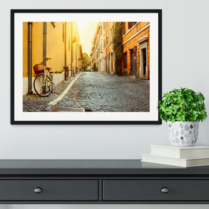 Old street in Rome Framed Print - Canvas Art Rocks - 1