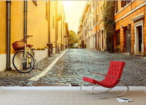 Old street in Rome Wall Mural Wallpaper - Canvas Art Rocks - 2