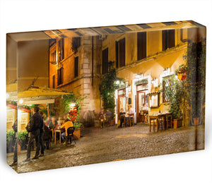 Old street in Trastevere Acrylic Block - Canvas Art Rocks - 1