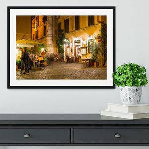 Old street in Trastevere Framed Print - Canvas Art Rocks - 1