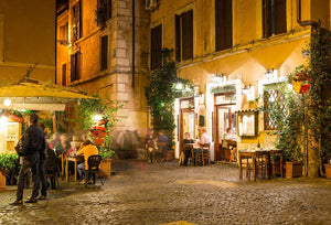 Old street in Trastevere Wall Mural Wallpaper - Canvas Art Rocks - 1