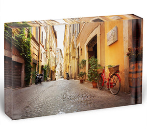 Old streets in Trastevere Acrylic Block - Canvas Art Rocks - 1