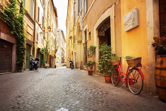 Old streets in Trastevere Wall Mural Wallpaper