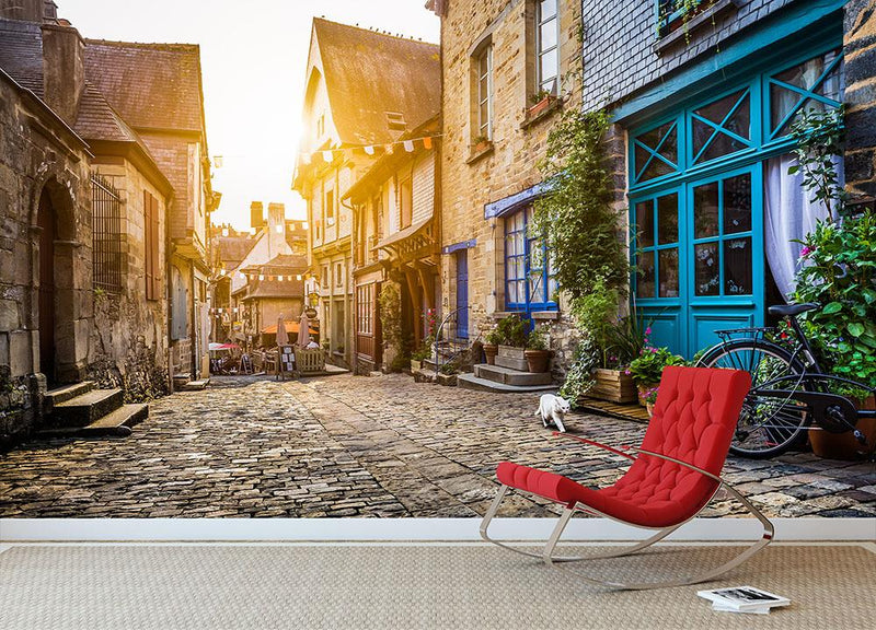 Old town in Europe Wall Mural Wallpaper - Canvas Art Rocks - 1