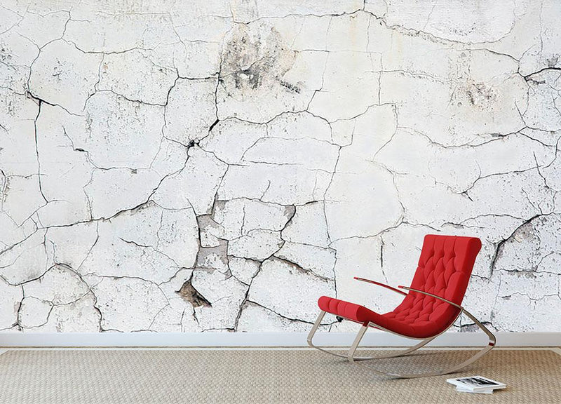 Old vintage crack wall Wall Mural Wallpaper - Canvas Art Rocks - 2