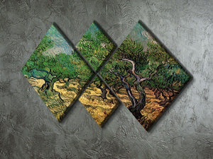 Olive Grove 2 by Van Gogh 4 Square Multi Panel Canvas - Canvas Art Rocks - 2