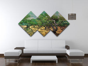 Olive Grove 2 by Van Gogh 4 Square Multi Panel Canvas - Canvas Art Rocks - 3