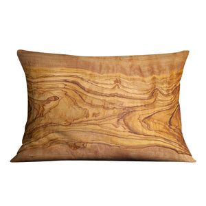 Olive tree wood slice Cushion - Canvas Art Rocks - 4