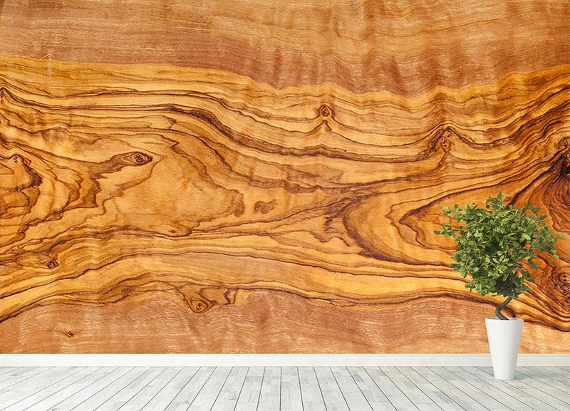Olive tree wood slice Wall Mural Wallpaper - Canvas Art Rocks - 4