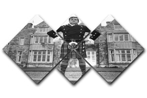 Oliver Reed in a kilt 4 Square Multi Panel Canvas  - Canvas Art Rocks - 1