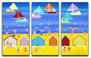 On a summers day by Gordon Barker 3 Split Panel Canvas Print - Canvas Art Rocks - 1