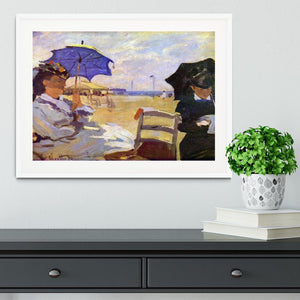 On the beach at Trouville by Monet Framed Print - Canvas Art Rocks - 5
