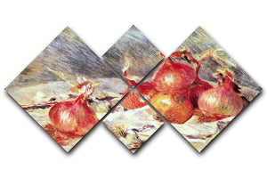Onions by Renoir 4 Square Multi Panel Canvas  - Canvas Art Rocks - 1