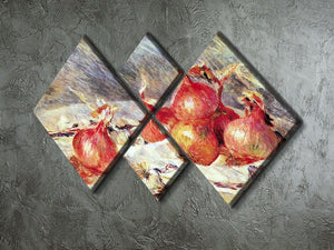 Onions by Renoir 4 Square Multi Panel Canvas - Canvas Art Rocks - 2