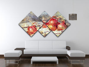 Onions by Renoir 4 Square Multi Panel Canvas - Canvas Art Rocks - 3