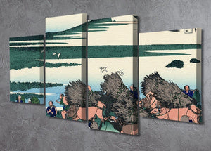 Ono Shindon in the Suraga province by Hokusai 4 Split Panel Canvas - Canvas Art Rocks - 2