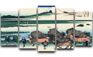 Ono Shindon in the Suraga province by Hokusai 5 Split Panel Canvas  - Canvas Art Rocks - 1