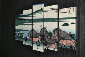 Ono Shindon in the Suraga province by Hokusai 5 Split Panel Canvas - Canvas Art Rocks - 2