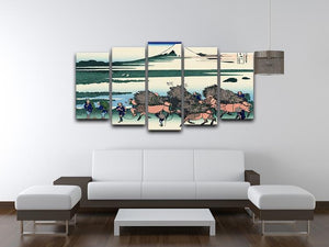 Ono Shindon in the Suraga province by Hokusai 5 Split Panel Canvas - Canvas Art Rocks - 3
