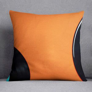 Orange Vinyl Cushion