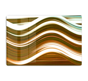 Orange Wave HD Metal Print - Canvas Art Rocks - 1