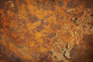 Orange rust grunge abstract Wall Mural Wallpaper - Canvas Art Rocks - 1