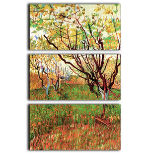 Orchard in Blossom by Van Gogh 3 Split Panel Canvas Print - Canvas Art Rocks - 1