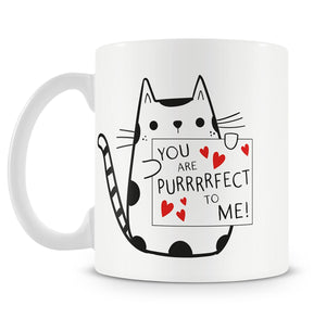 Personalised You Are Purrrrfect to Me Mug