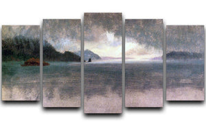 Pacific Northwest by Bierstadt 5 Split Panel Canvas - Canvas Art Rocks - 1