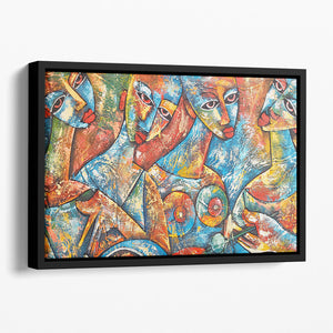 Painted Women Floating Framed Canvas