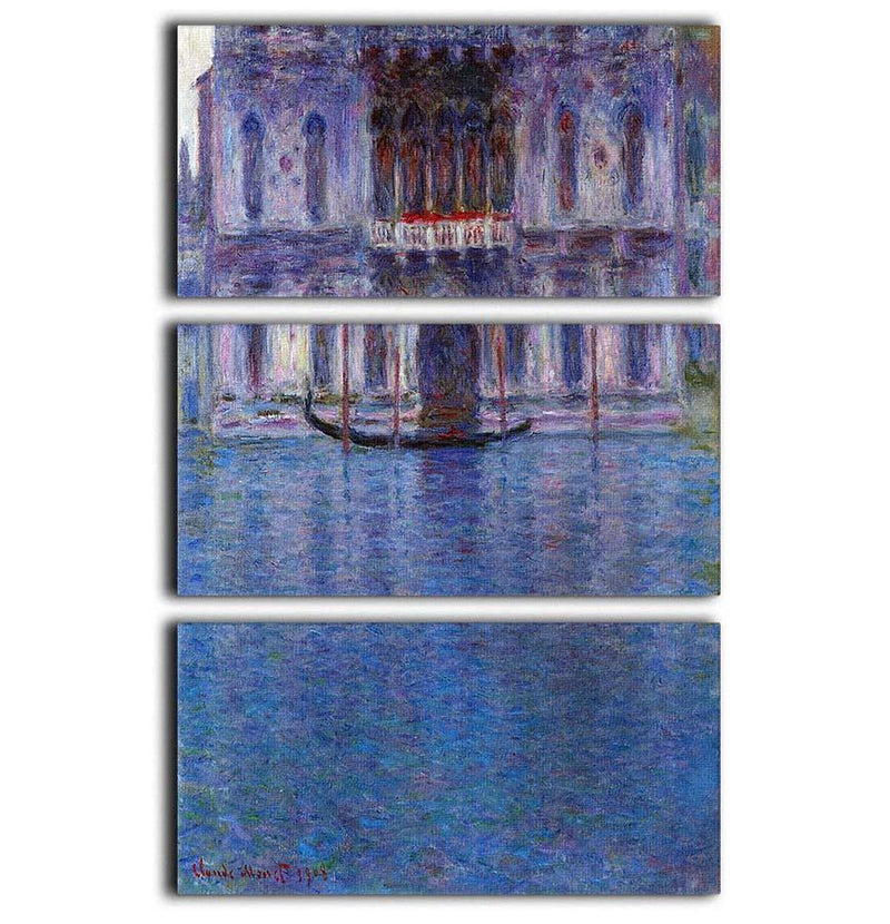 Palazzo 1 by Monet 3 Split Panel Canvas Print - Canvas Art Rocks - 1