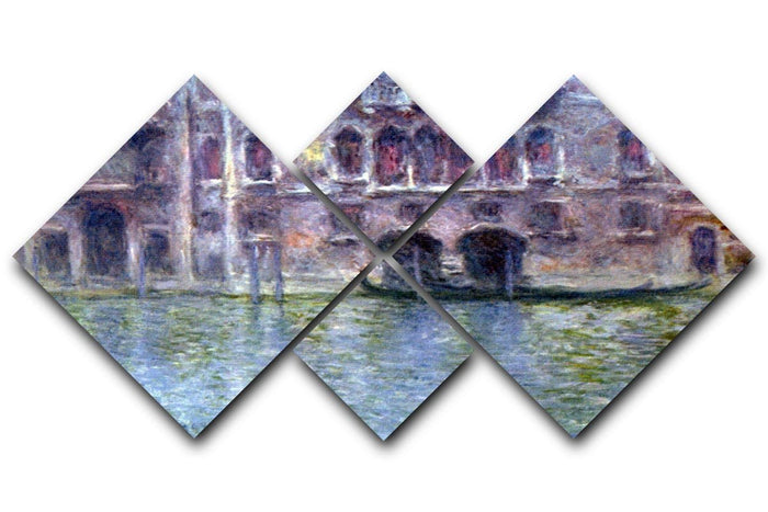 Palazzo da Mula Venice by Monet 4 Square Multi Panel Canvas