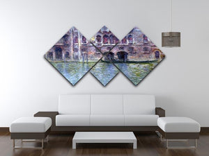 Palazzo da Mula Venice by Monet 4 Square Multi Panel Canvas - Canvas Art Rocks - 3