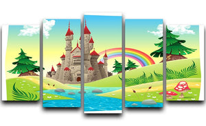 Panorama with castle 5 Split Panel Canvas  - Canvas Art Rocks - 1