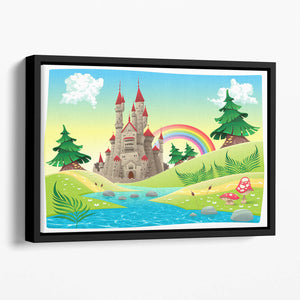 Panorama with castle Floating Framed Canvas