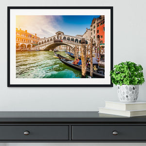 Panoramic view of Canal Grande Framed Print - Canvas Art Rocks - 1
