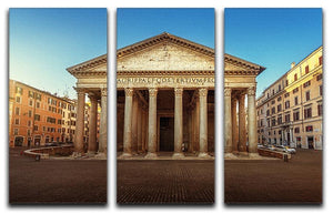Pantheon in Rome 3 Split Panel Canvas Print - Canvas Art Rocks - 1
