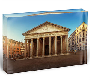 Pantheon in Rome Acrylic Block - Canvas Art Rocks - 1
