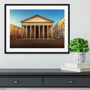 Pantheon in Rome Framed Print - Canvas Art Rocks - 1