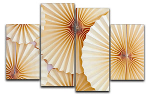 Paper Fans 4 Split Panel Canvas - Canvas Art Rocks - 1