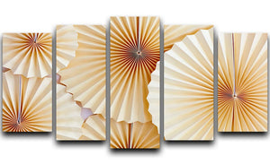Paper Fans 5 Split Panel Canvas - Canvas Art Rocks - 1
