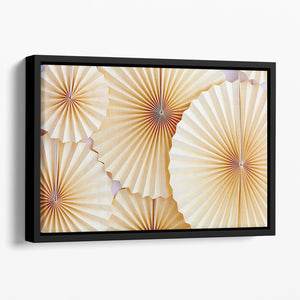 Paper Fans Floating Framed Canvas - Canvas Art Rocks - 1