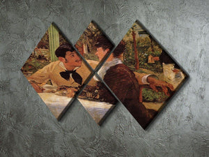 Pare Lathuille by Manet 4 Square Multi Panel Canvas - Canvas Art Rocks - 2