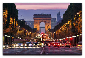 Paris Champs Elysees at night Canvas Print or Poster  - Canvas Art Rocks - 1