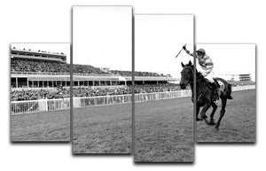 Party Politics romps home in the Grand National 4 Split Panel Canvas - Canvas Art Rocks - 1