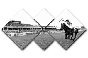 Party Politics romps home in the Grand National 4 Square Multi Panel Canvas - Canvas Art Rocks - 1