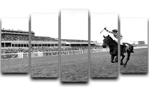 Party Politics romps home in the Grand National 5 Split Panel Canvas - Canvas Art Rocks - 1