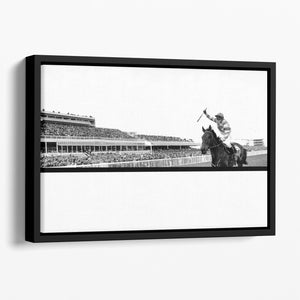 Party Politics romps home in the Grand National Floating Framed Canvas - Canvas Art Rocks - 1