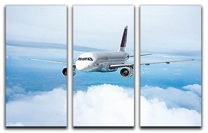 Passenger Airliner 3 Split Panel Canvas Print - Canvas Art Rocks - 1