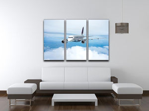 Passenger Airliner 3 Split Panel Canvas Print - Canvas Art Rocks - 3